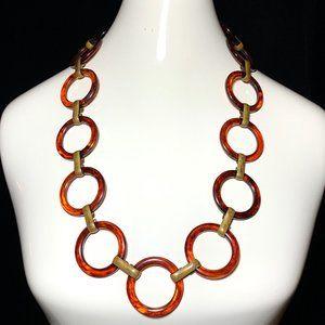 Vintage 60s Bakelite Chain Link Belt Necklace